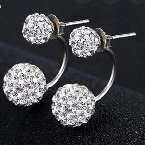 AAA CZ Double Sided Ball Stud Earrings Earrings